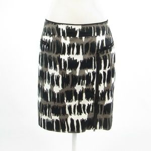 Per Se black geometric pencil skirt 8